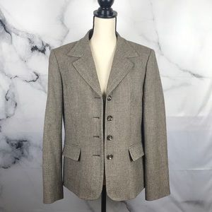 Talbots wool fully lined houndstooth blazer
